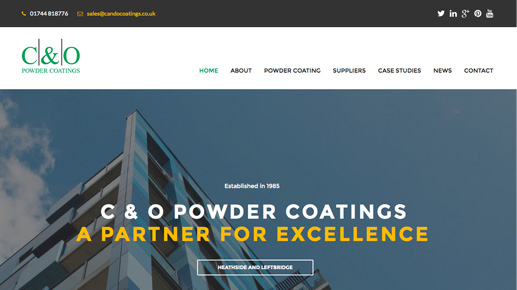 C&O Powder Coatings Old Website