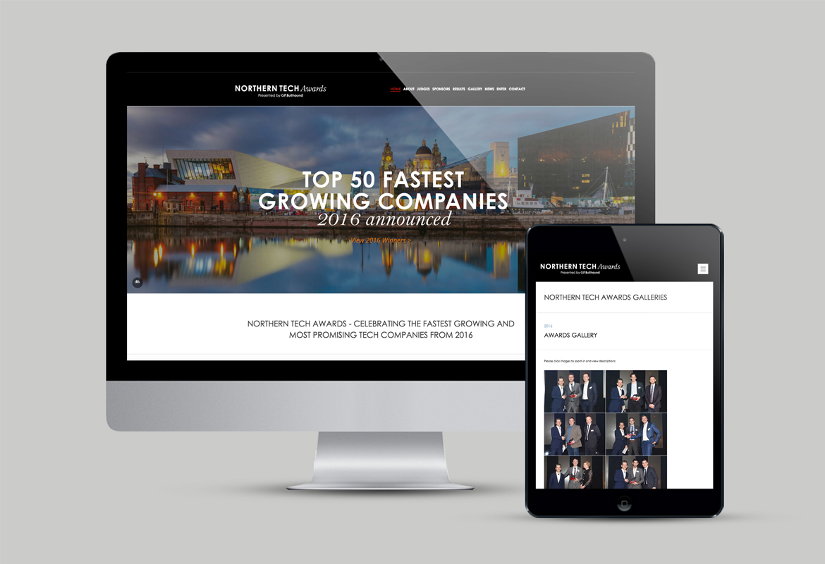 Northern Tech Awards Website
