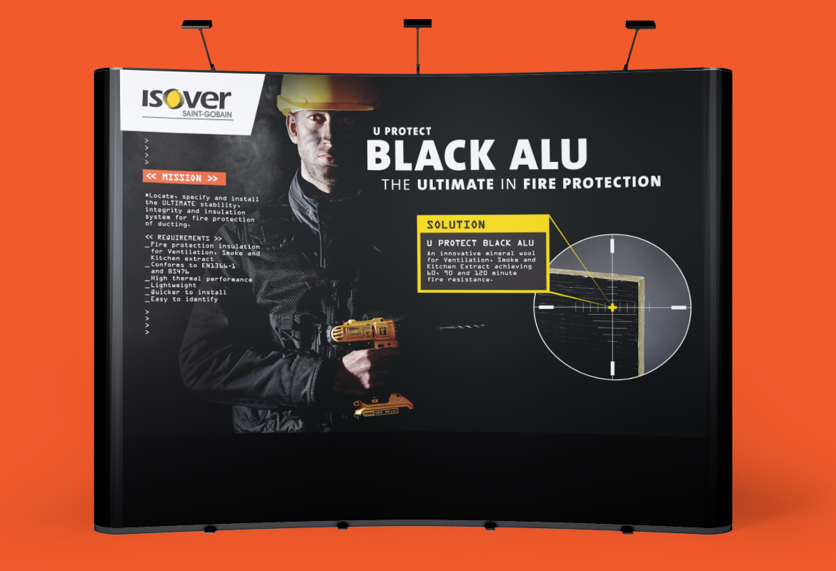 Isover Black Alu Stand