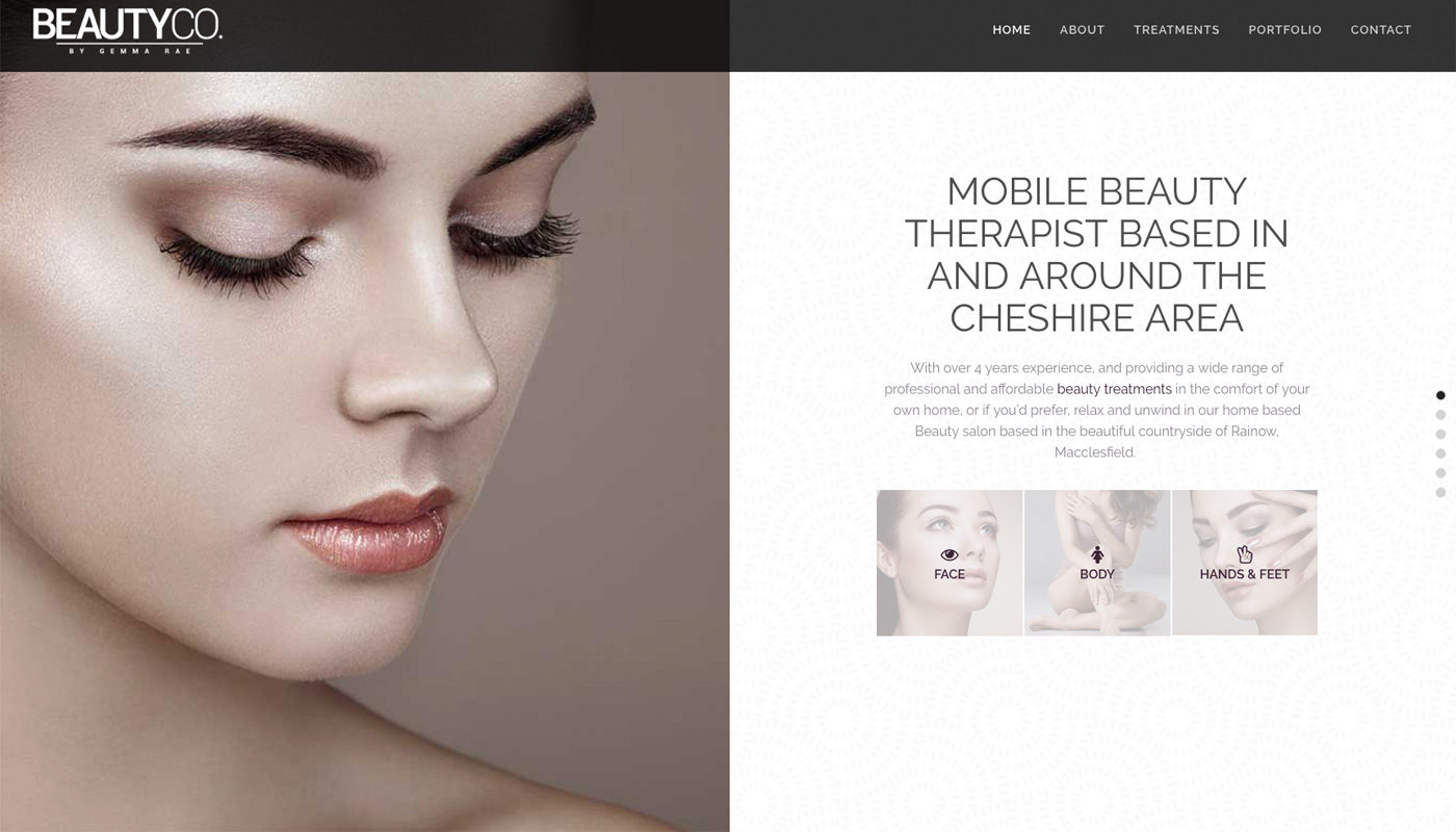 The Beauty Co Home Page